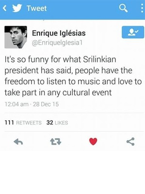 FAKE/Duplicate twitter account of Enrique Iglesias